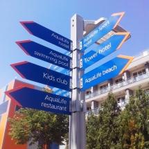 Външни указателни табели на стълб - външна реклама Варна