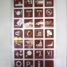 Вътрешно информационно табло от плексиглас - реклама Варна