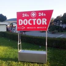Светеща табела за медицински център - външна реклама Варна