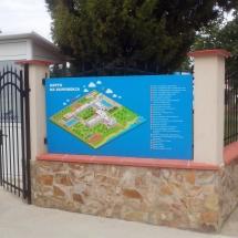 Указателна карта на спортен комплекс - външна реклама Варна
