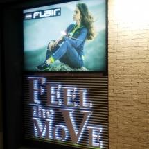 Светеща табела и задно осветени обемни букви - реклама Варна
