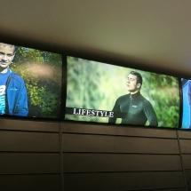Светещи табели в спортен магазин - реклама Варна